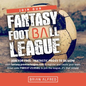 Brian Alfred Fantasy Football League 2016
