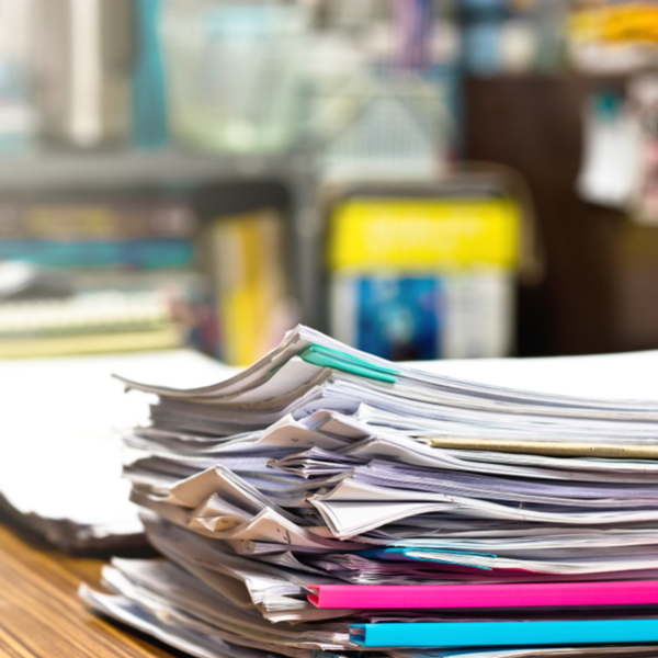 Growing pile of paperwork to keep tabs on expenses