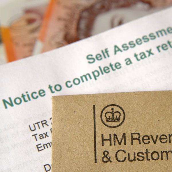 HMRC self assessment forms with UTR number